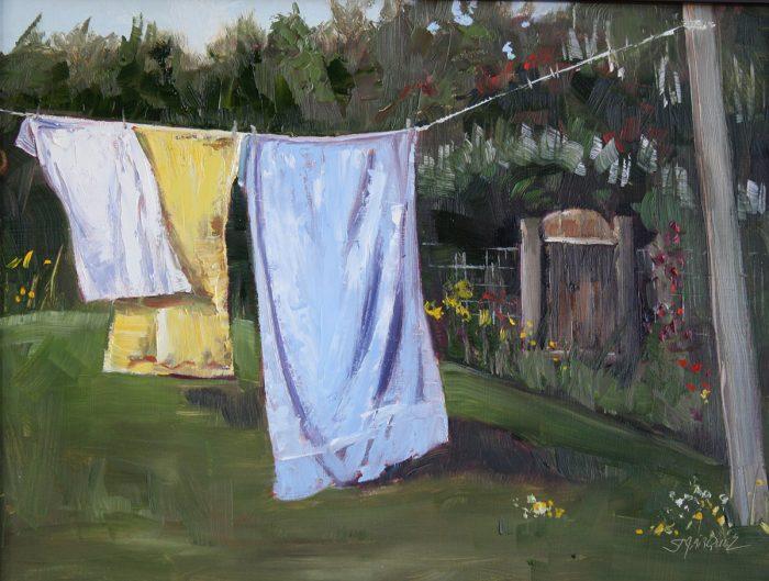 Fair Breeze plein air oil painting