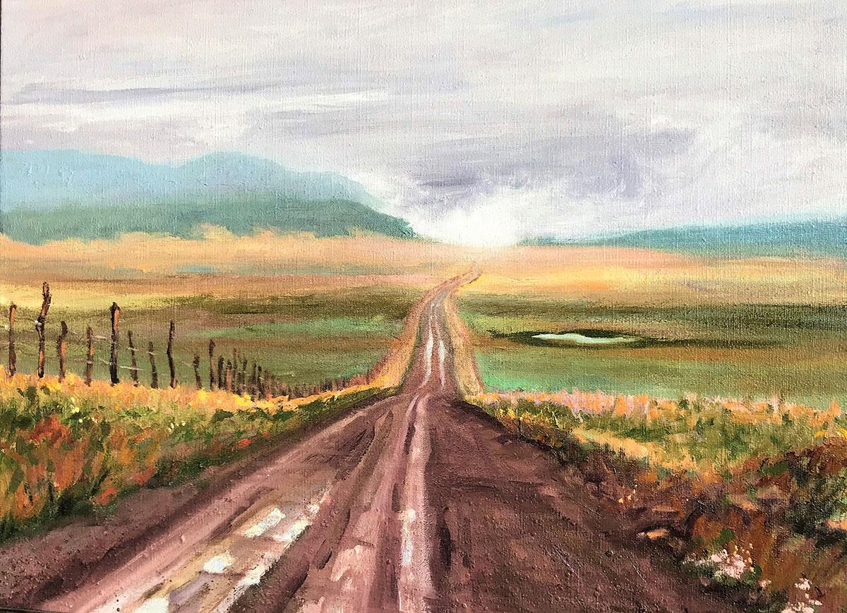 Howard Flats oil painting