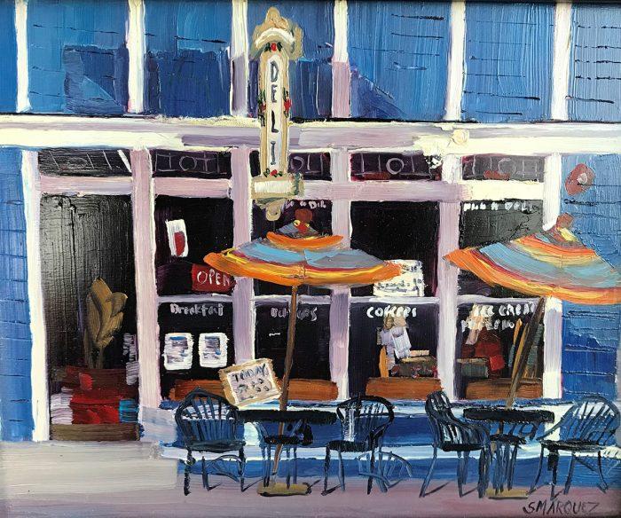 Park City Deli plein air oil painting