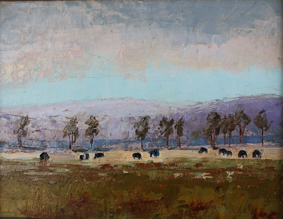 home on the range plein air oil painting