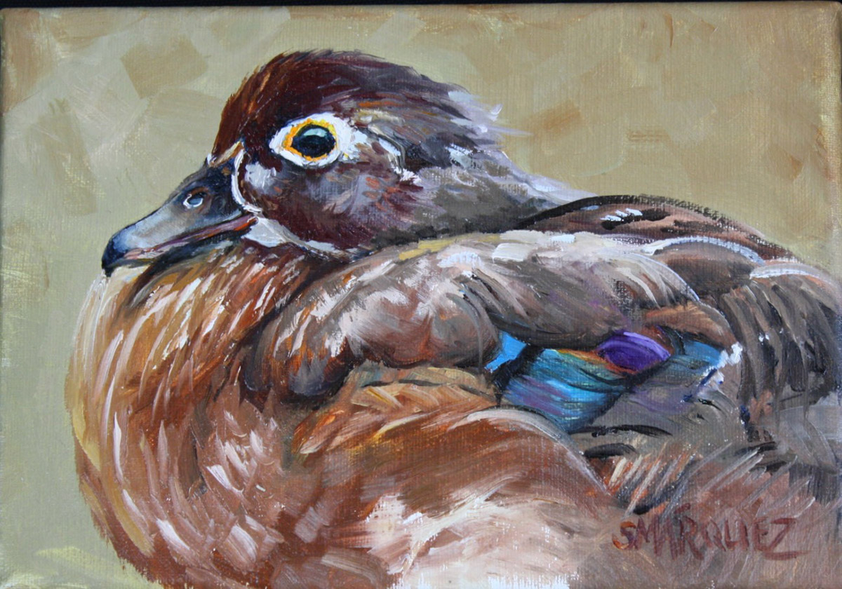 Wood Duck Oil Painting on Canvas