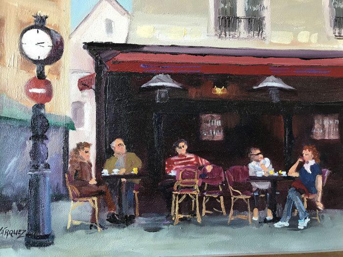 street cafe in paris plein air oil painting