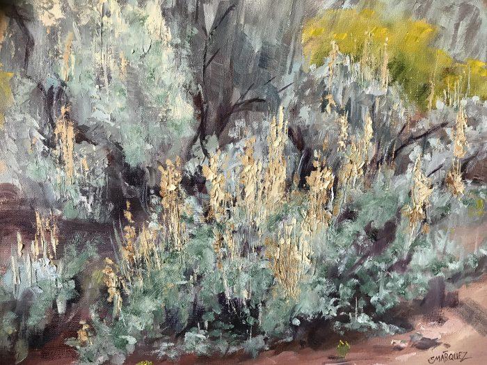 Sage oil painting done in plein air