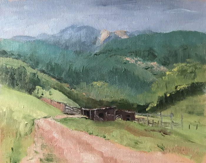 Beaver Valley Corrals - plein air oil painting