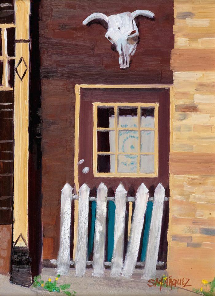 western plein air oil painting