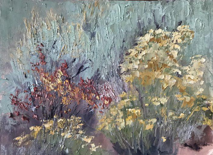 Dennis Weaver nature park plein air oil painting