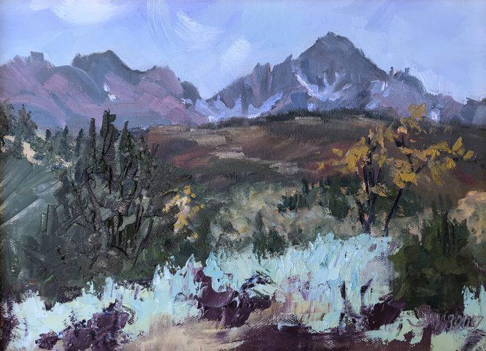 Mount Sneffels Oil Painting