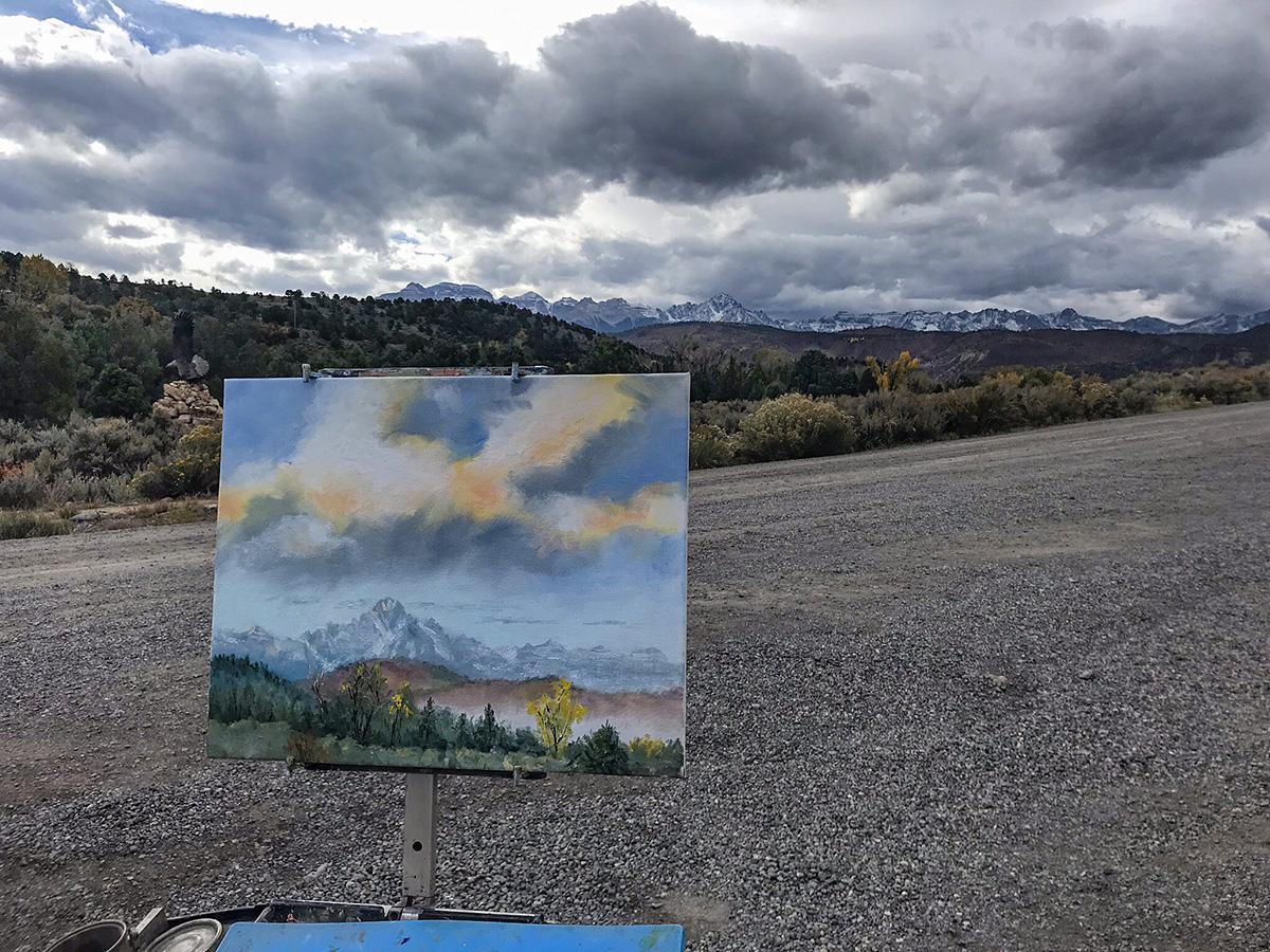 Plein Air Painting in Ridgway CO